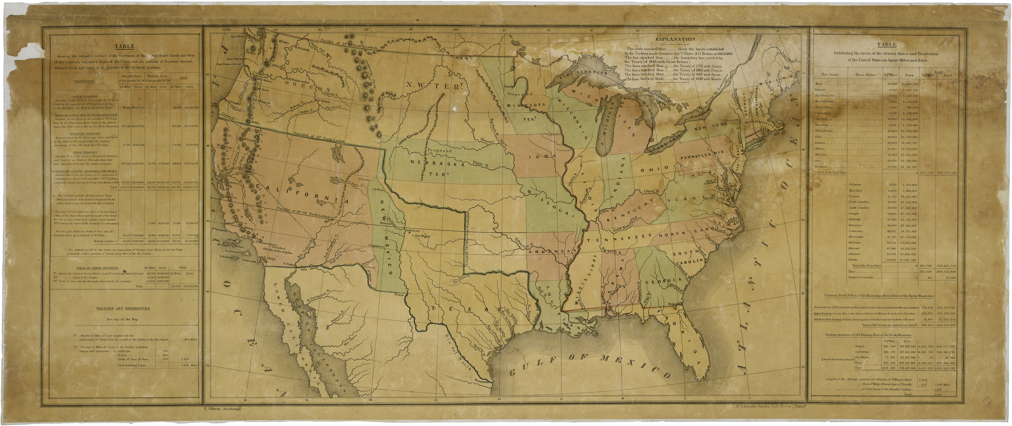 Map Of The United States Including Western Territories - Polk us map