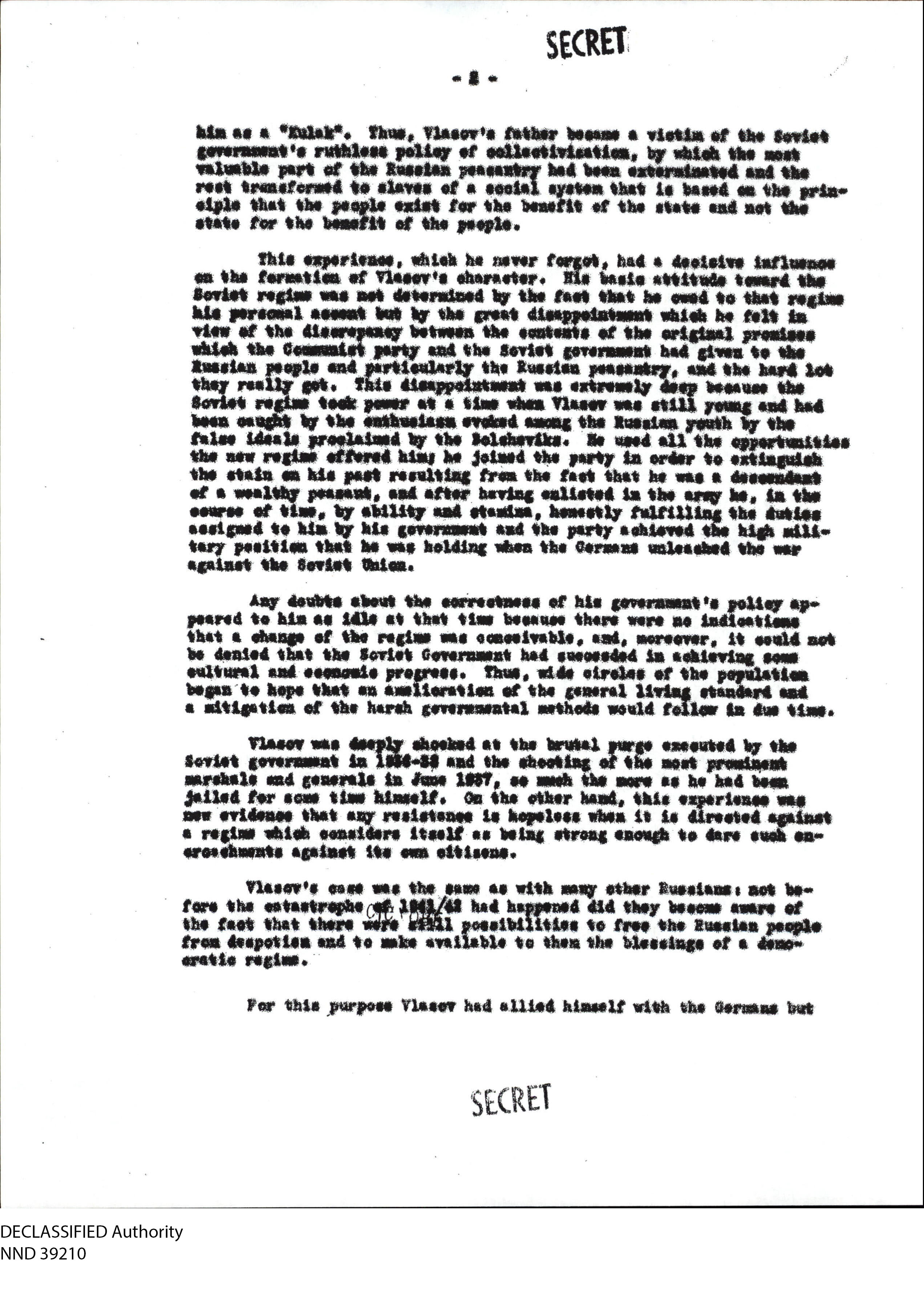 Page one of the original report