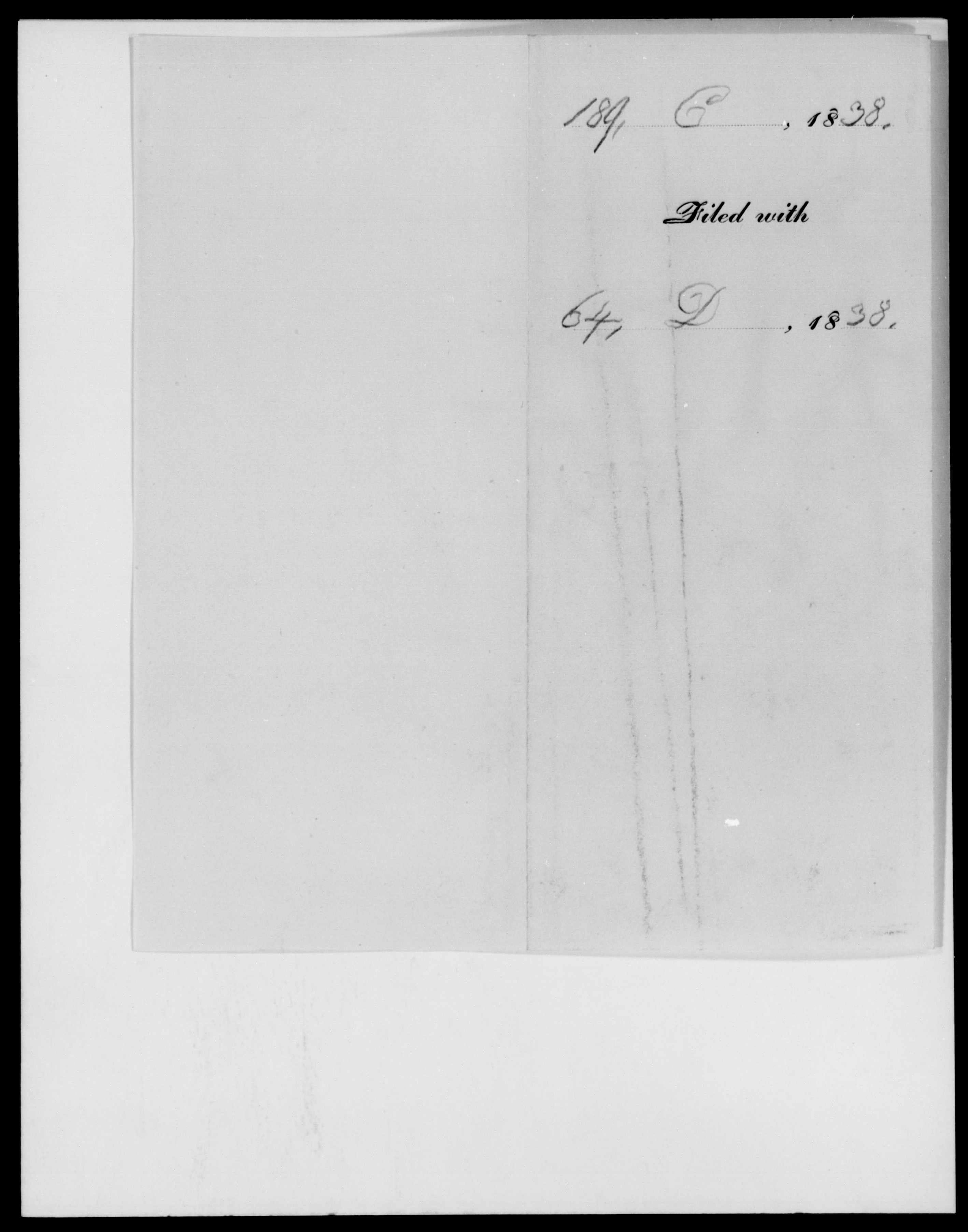 [Blank], [Blank] - State: [Blank] - Year: 1838 - File Number: C 189