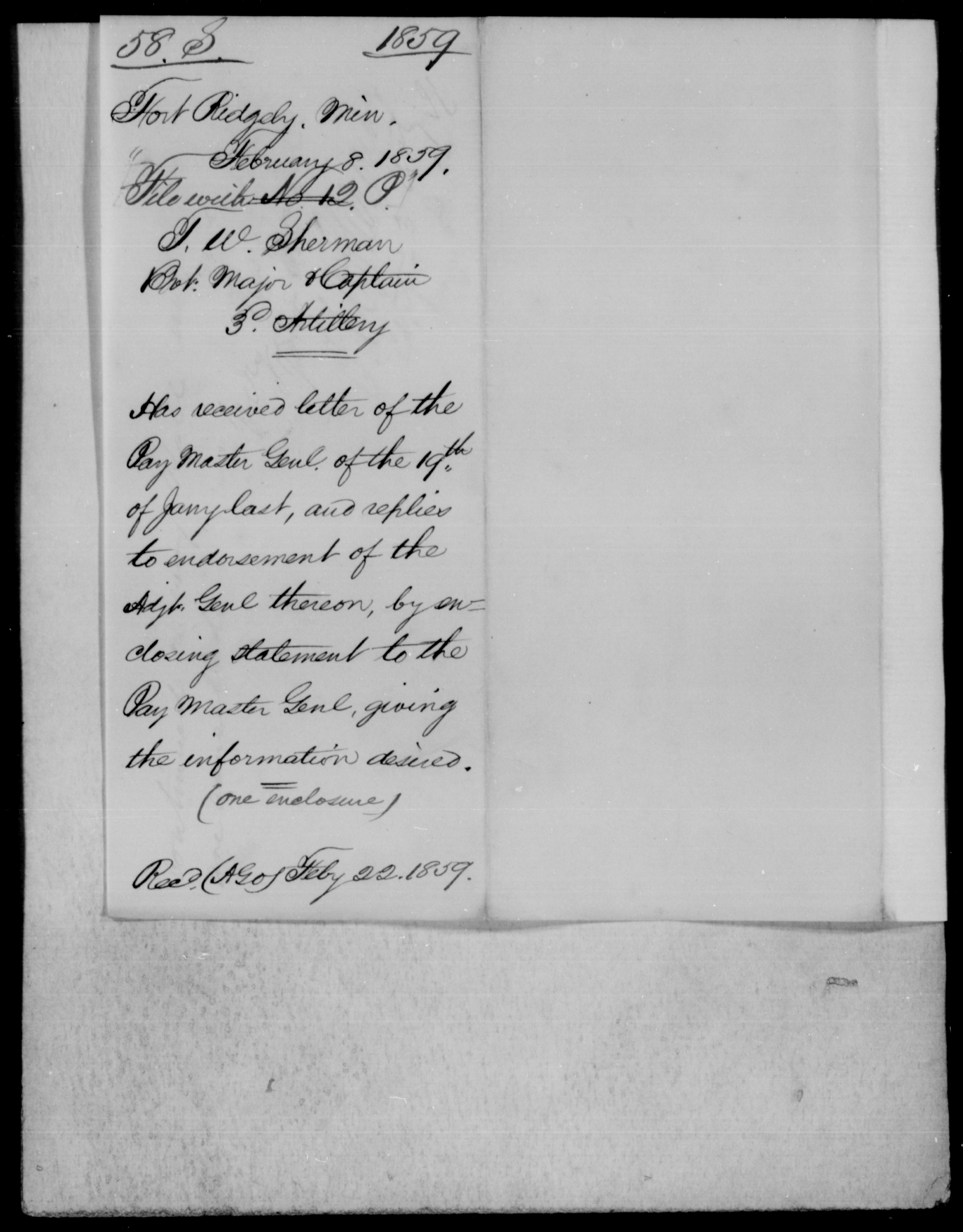 [Blank], [Blank] - State: Minnesota - Year: 1859 - File Number: P12