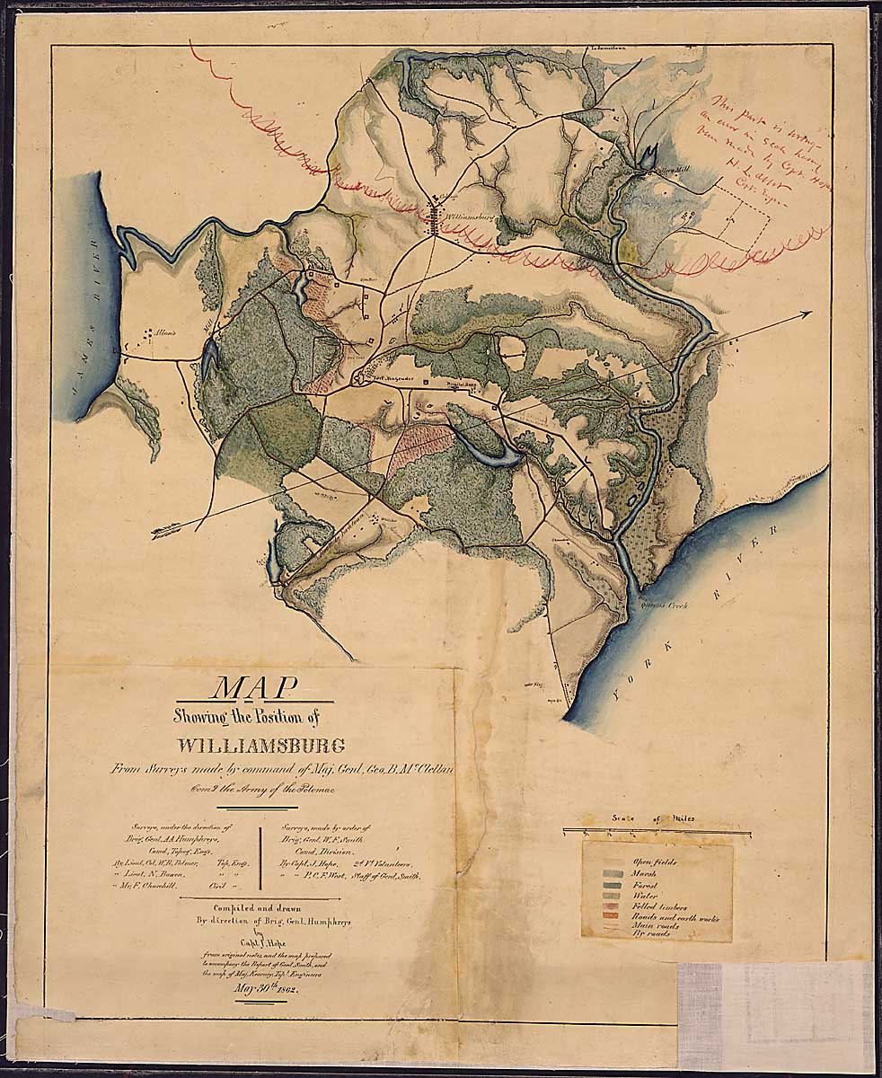 Map Showing the Position of Williamsburg