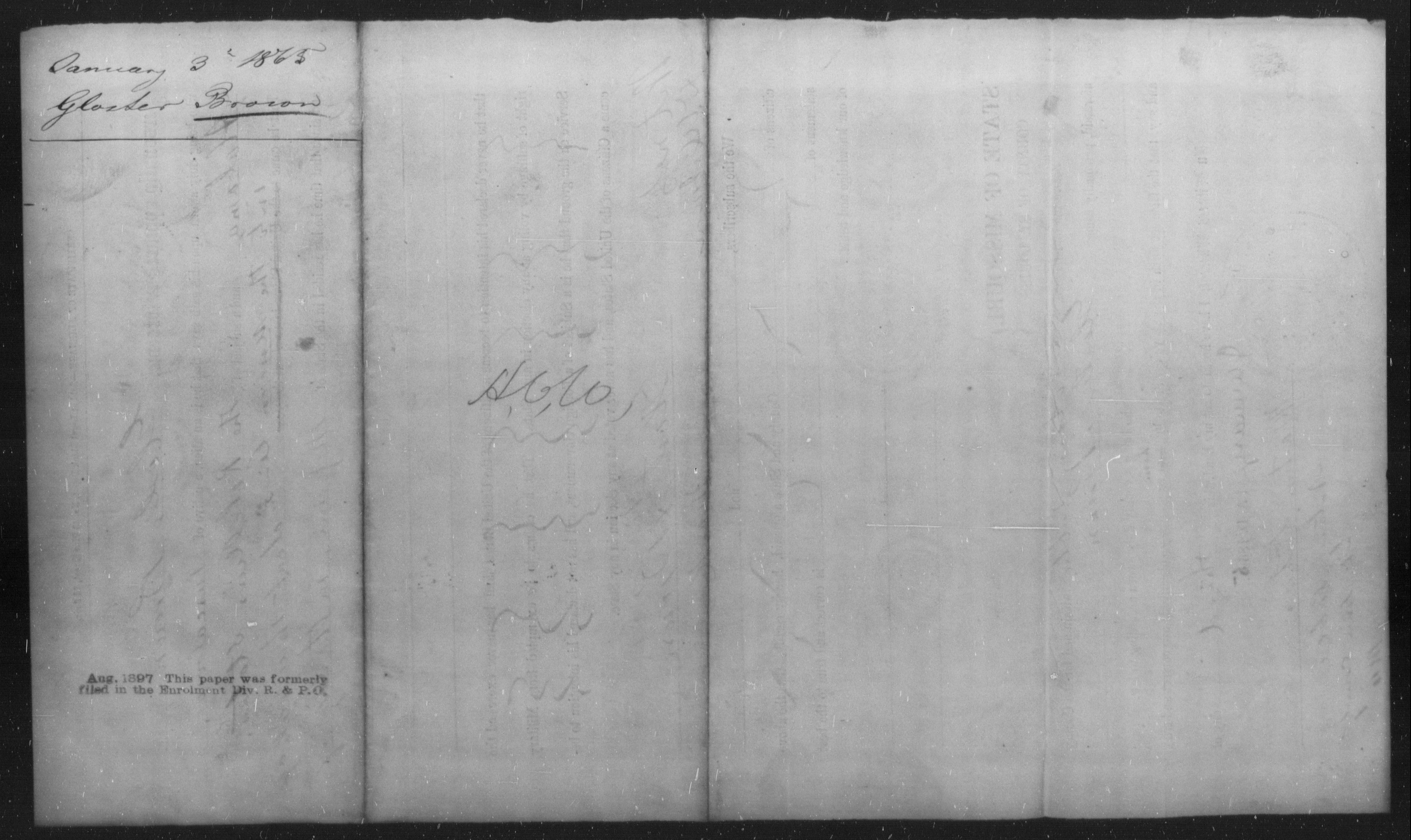 [Missouri] Brown, Gloster - Age 27, Year: 1864 - Personal Papers, Bre-Bry