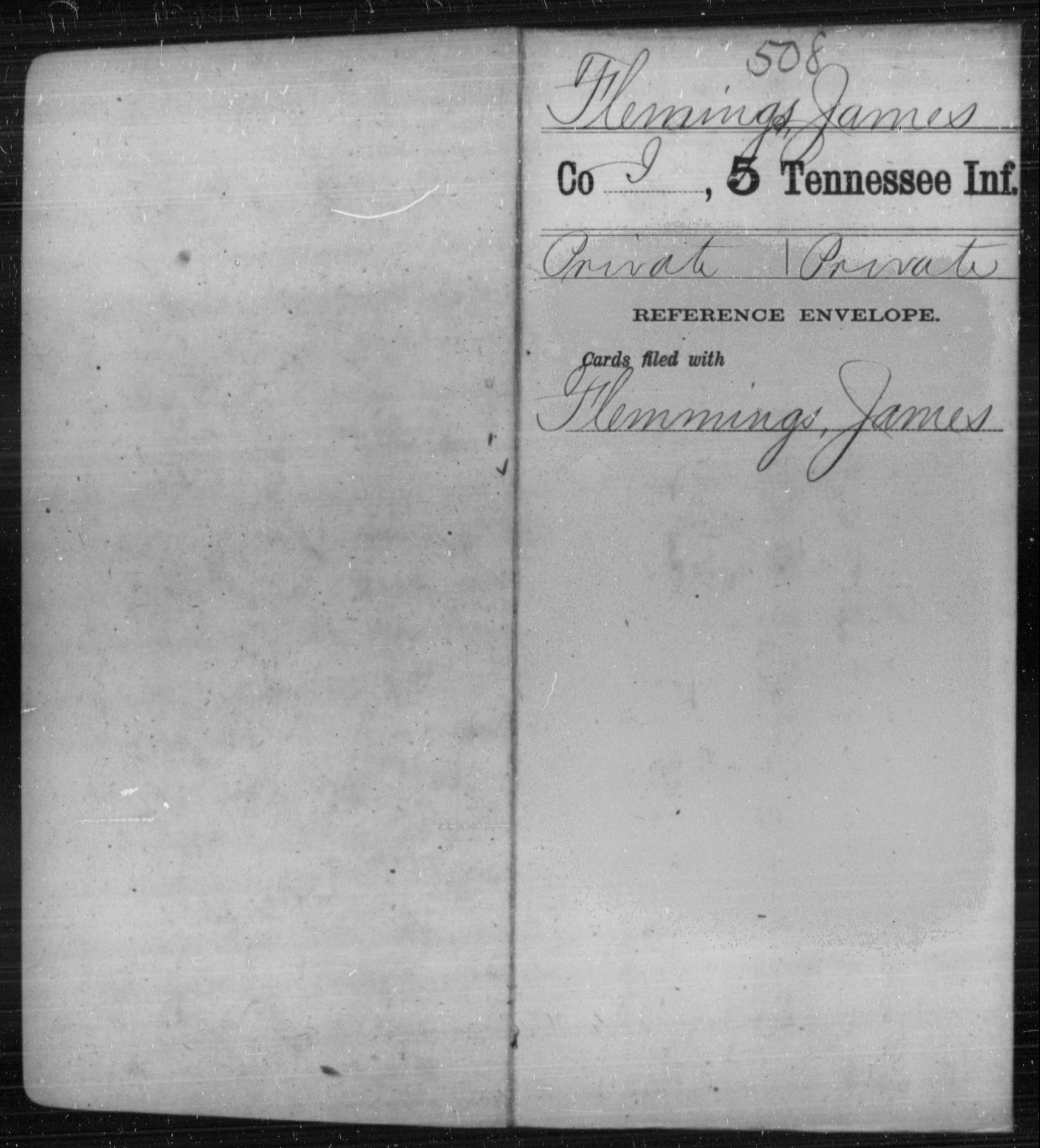 Flemings, James - Age [Blank], Year: [BLANK] - Fifth Infantry