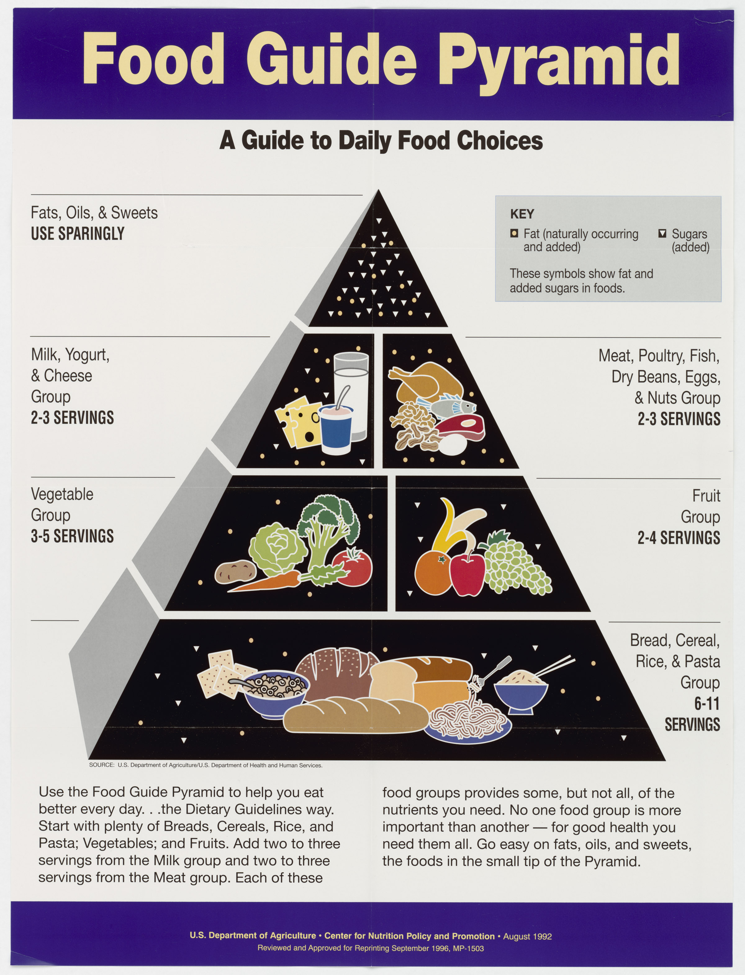 Worksheets Food Pyramid Guide food guide pyramid a to daily choices
