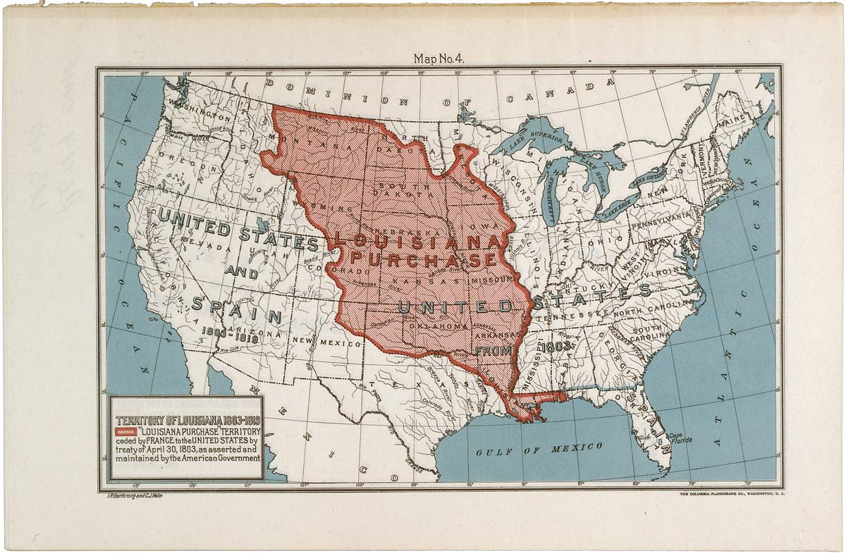 Map Of Louisiana Territory.Map Of The Louisiana Purchase Territory