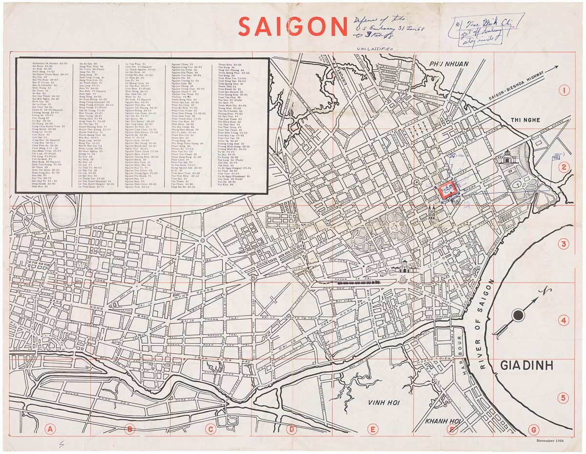 Map Of Saigon Defense Of The US Embassy - Us embassy map