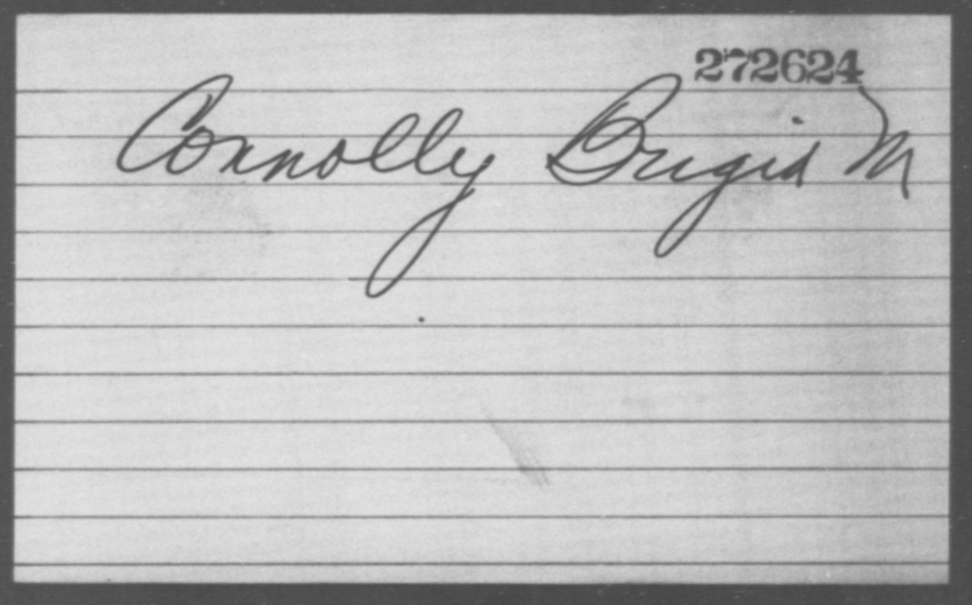 Connolly, Brigid M - Born: [BLANK], Naturalized: [BLANK]