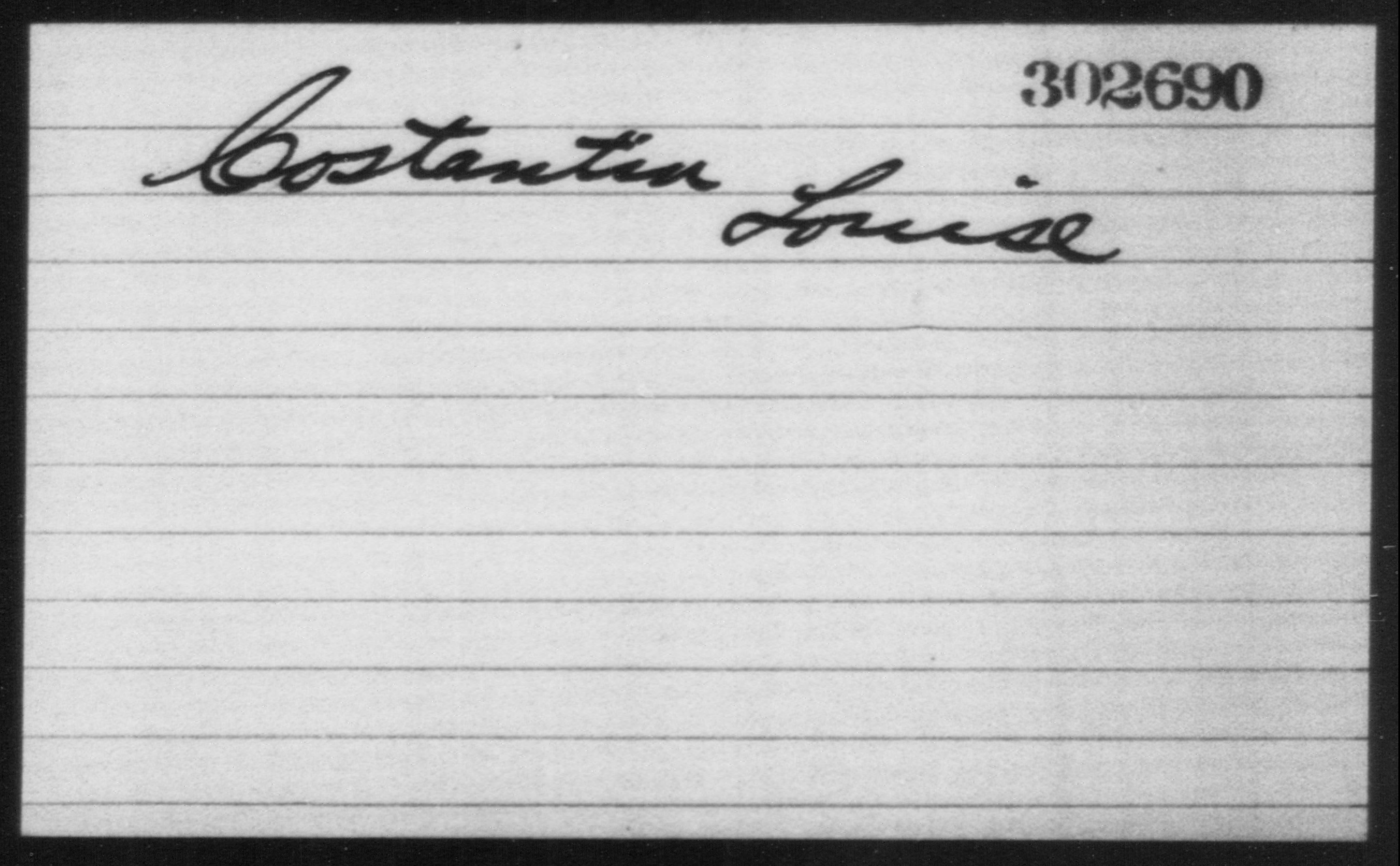 Costantin, Louise - Born: [BLANK], Naturalized: [BLANK]