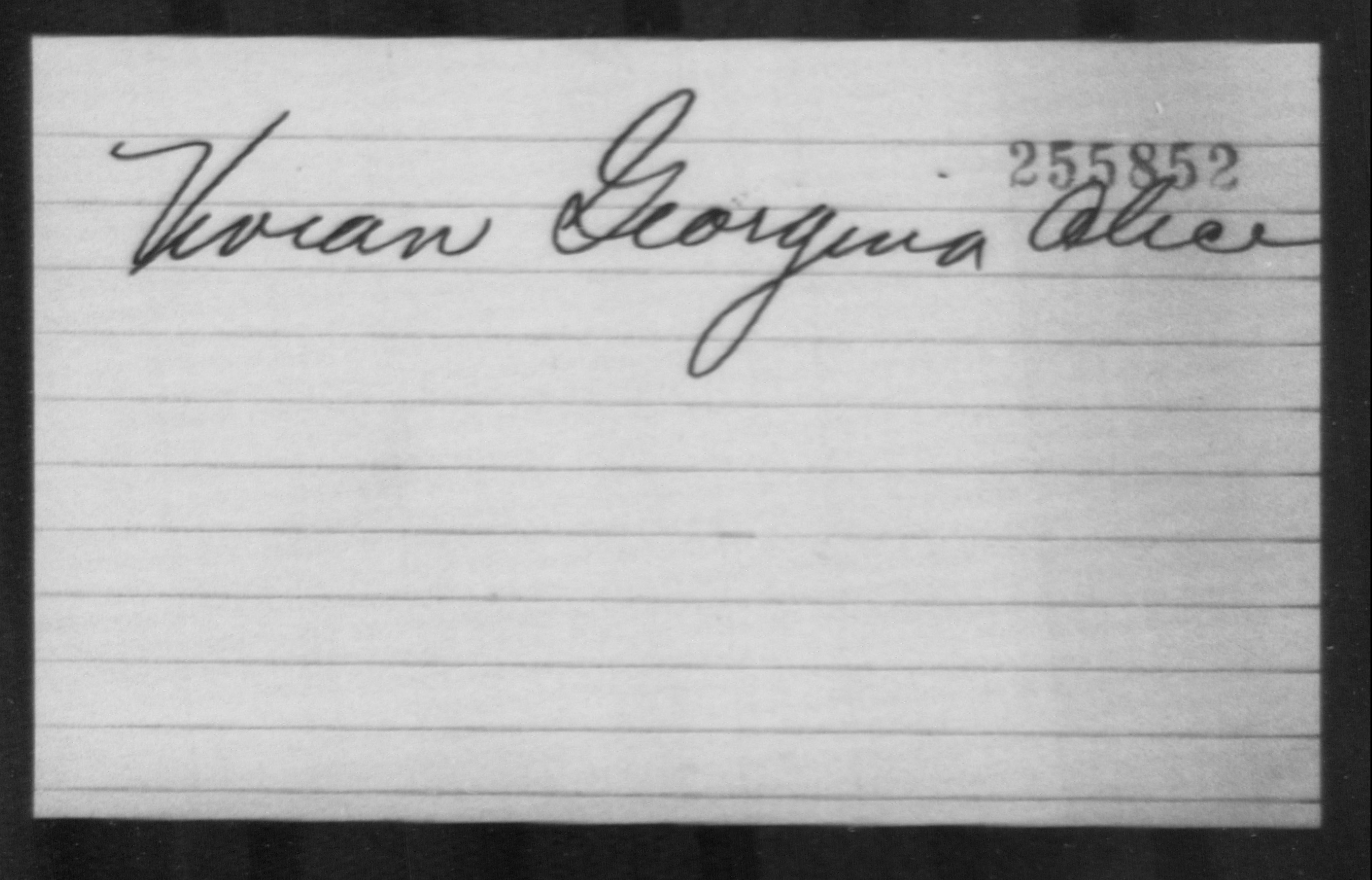 Vivian, Georgina Alice - Born: [BLANK], Naturalized: [BLANK]