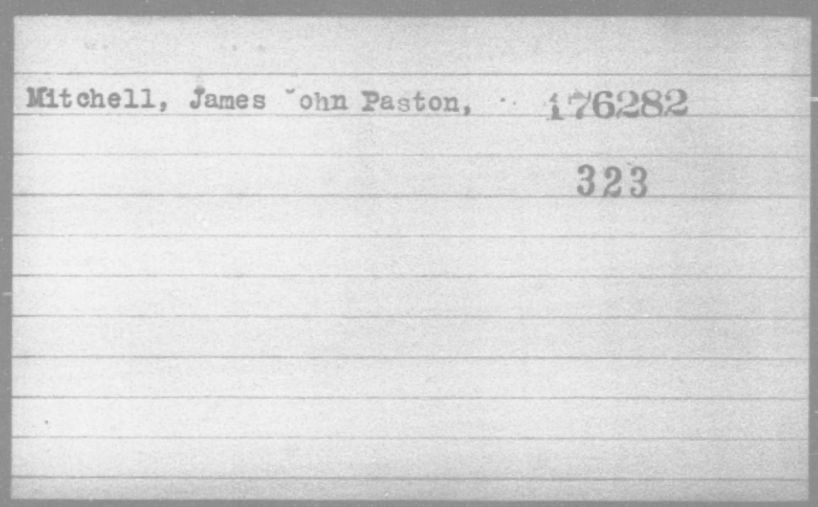 Mitchell, James John Panton