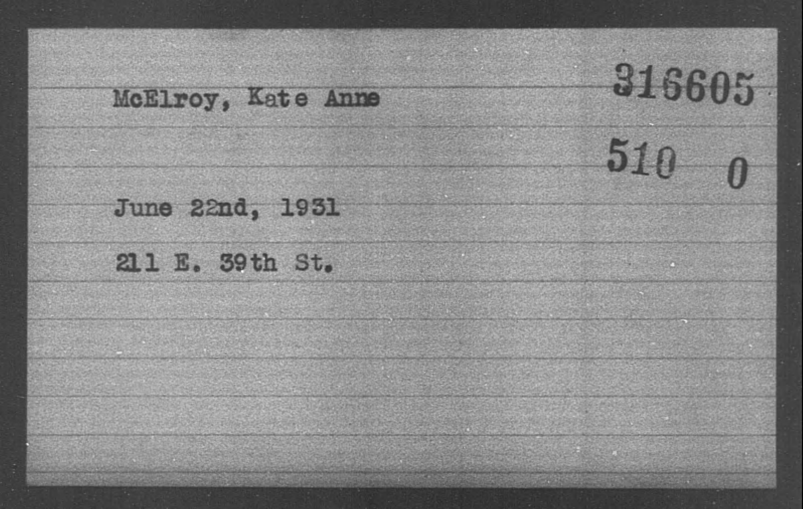 McElroy, Kate Anne