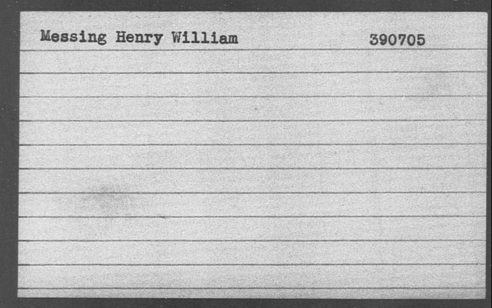 Messing Henry William