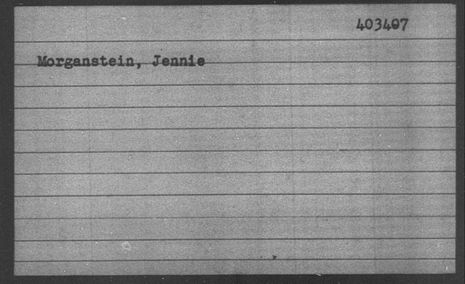 Morganstein, Jennie