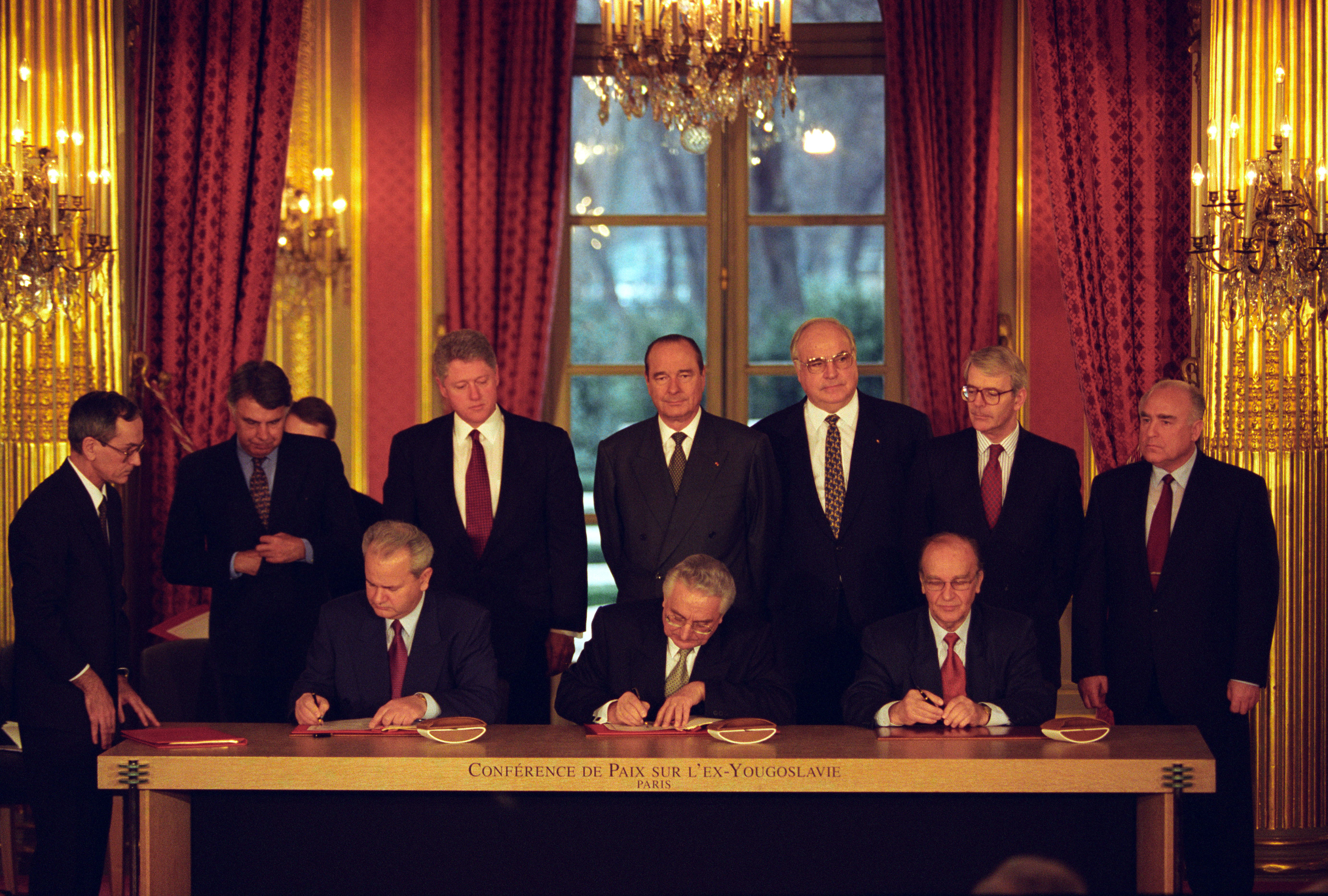 Balkan Peace Agreement Sighning